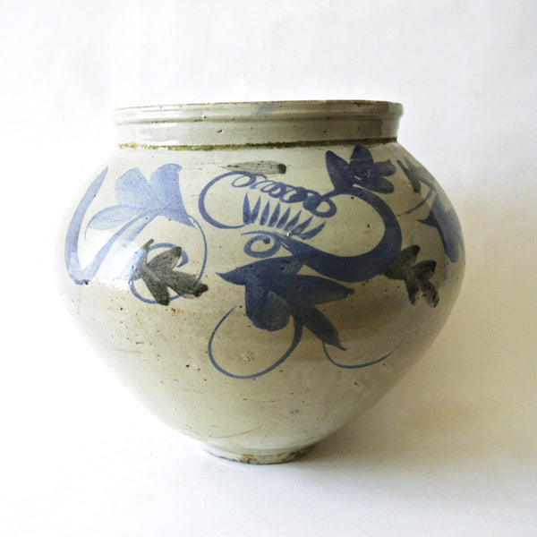 Very Large Blue and White Vase from Chosun Dynasty