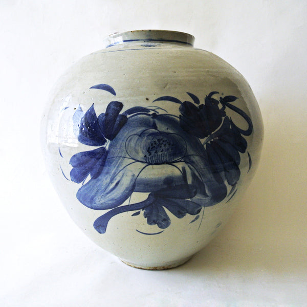 Large Blue and White Vase from Chosun Dynasty