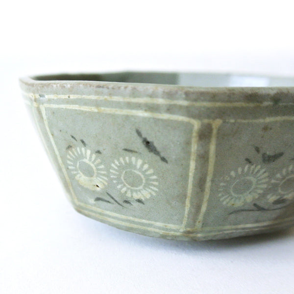 Inlaid Celadon Octagonal Bowl from 13th Century Koryo Period