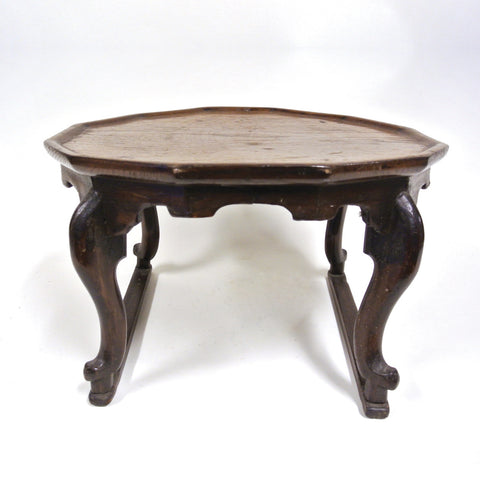 Korean 8-Sided Low Wooden Table from Chosun Dynasty