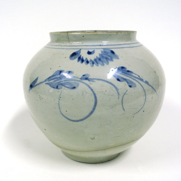 Korean Blue and White Porcelain Vase from Yi Chosun Dynasty