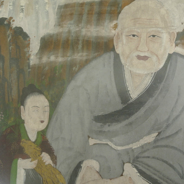 Painting of Man and Boy : Happiness and Longevity from Chosun 19th Century