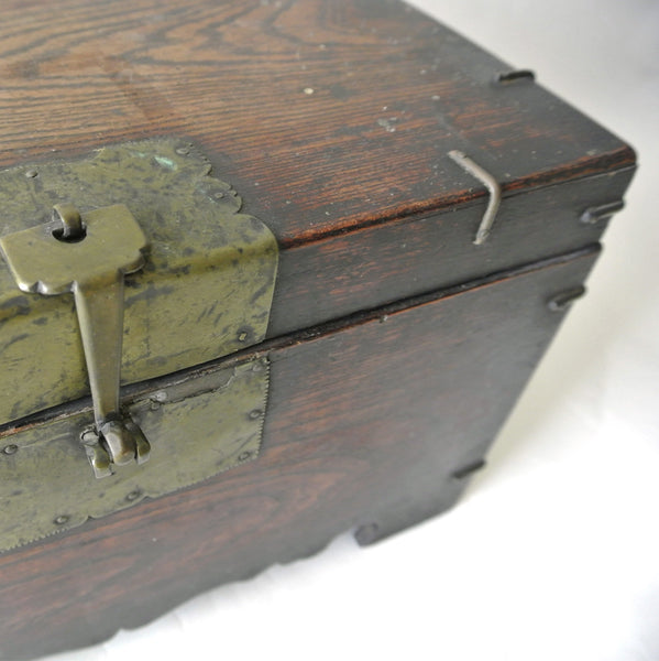 Korean Small Wooden Chest from Chosun Dynasty