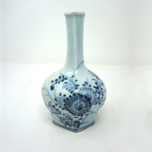 Blue and White Porcelain Bottle Vase from Chosun Dynasty