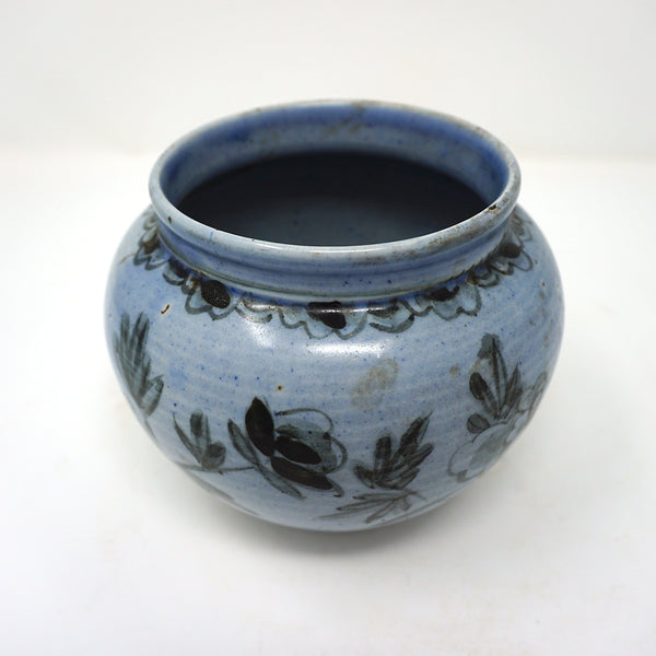 Blue and White Flower Design Porcelain Vase from Chosun Dynasty