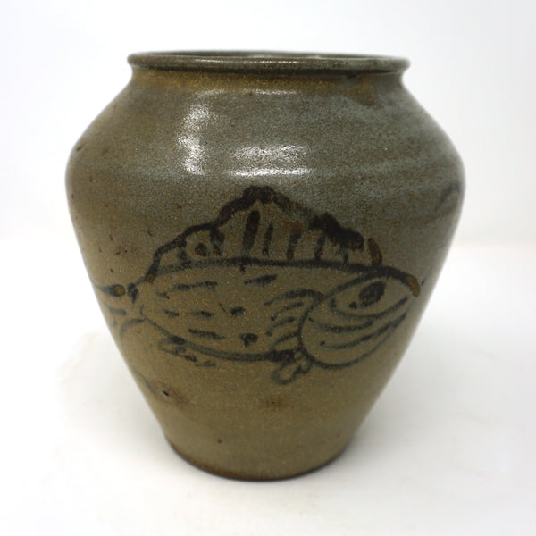 Bunchung Porcelain Jar with Fish Design from Chosun Dynasty