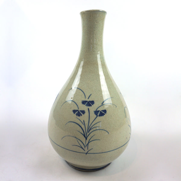 White Porcelain Vase with Blue Painting from Chosun Dynasty by Bunwon Kiln