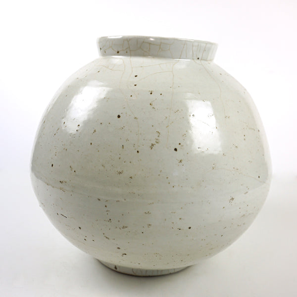 Large White Porcelain Vase Jar from Chosun Dynasty