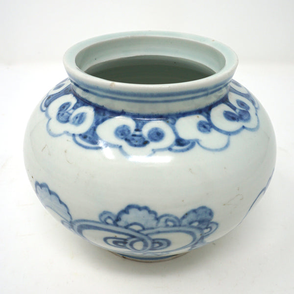 White Porcelain with Blue Design By Bunwon Kiln From Chosun Dynasty
