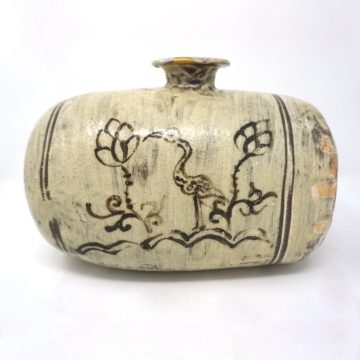 Bunchung Janggun Bottle Vase with Iron Painting from Chosun Dynasty