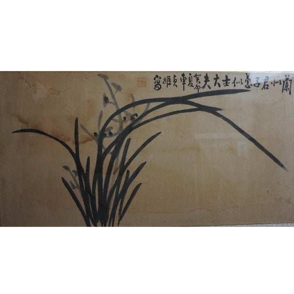 Korean Old Painting of Orchids