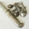"Korean Silver ""Eunjangdo"" with Intricate Bird Fruit and Mini Dagger Charms"