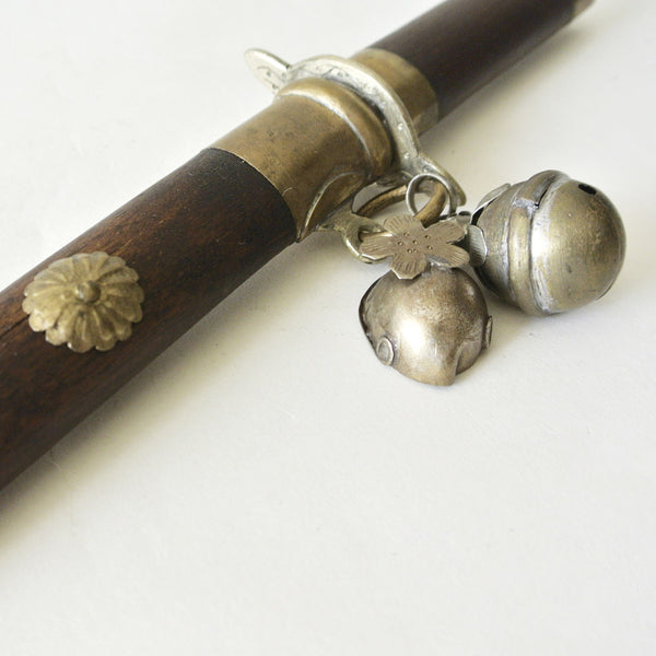 "Korean ""Eunjangdo"" Dagger with Gold and Wooden Design"