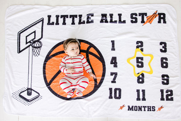 All Star Milestone Blanket - Our Little Kicks