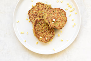 Savory Corn-Millet-Flax Cakes