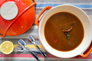 Toor Dal Rasam: South Indian Tomato and Tamarind Soup with Pigeon Peas