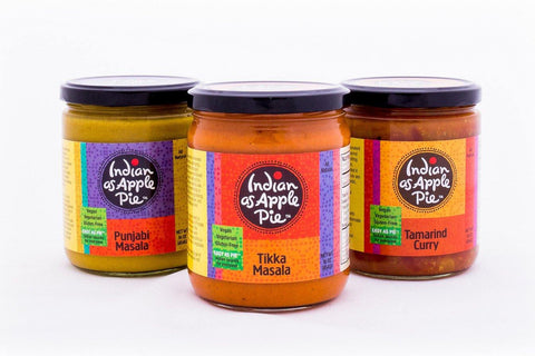 Three sauces: Punjabi Masala, Tamarind curry & Tikka Masala