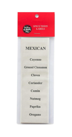 Spice Labels - Mexican Spices