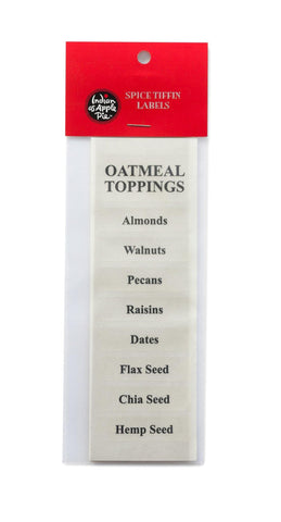 Spice Labels - Oatmeal Toppings
