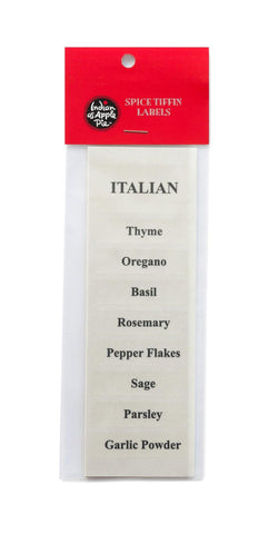 Spice Labels - Italian Spices