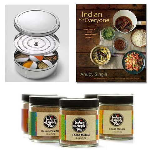 Indian for Everyone with Spice Tiffin Box and Custom Spice Blends