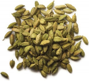 Indian spices: Green cardamom pods, whole