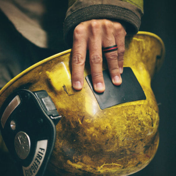 4 comments - Firefighter Wedding Rings