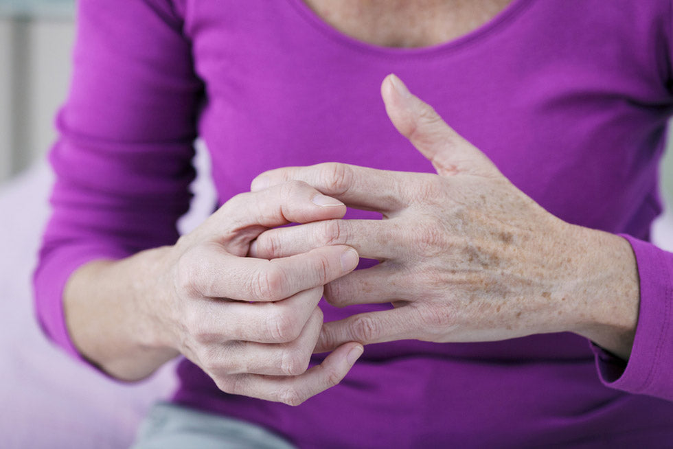 elderly person painful hand
