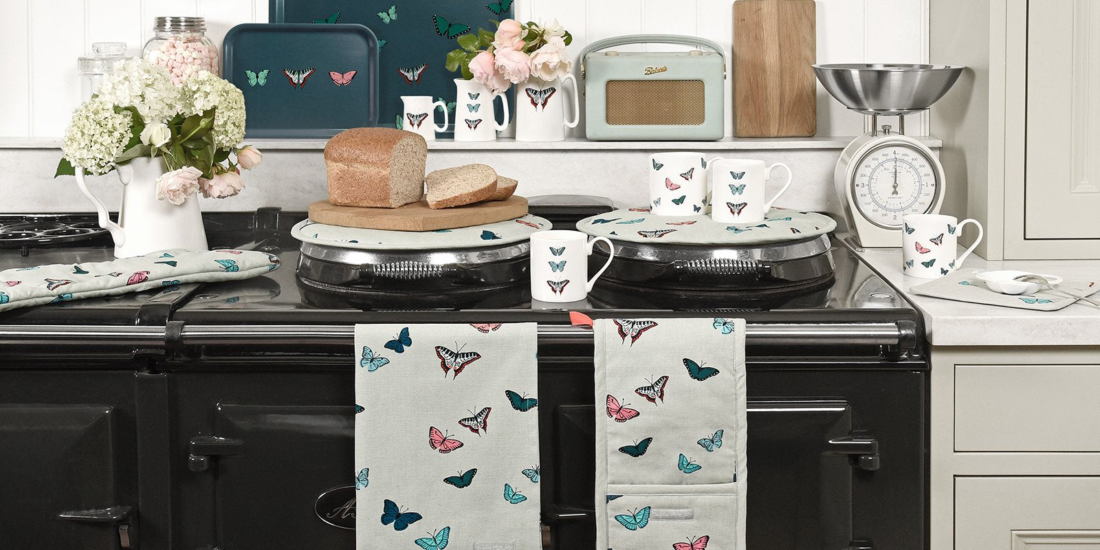 Butterflies range of home accessories by Sophie Allport