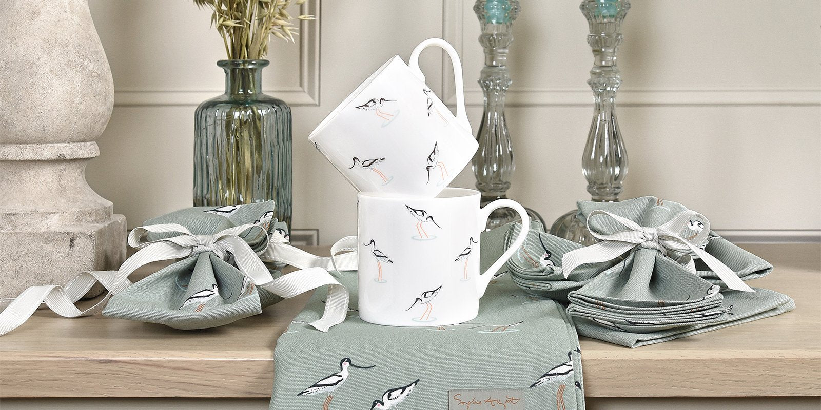 Coastal Birds range of homewares and accessories by Sophie Allport