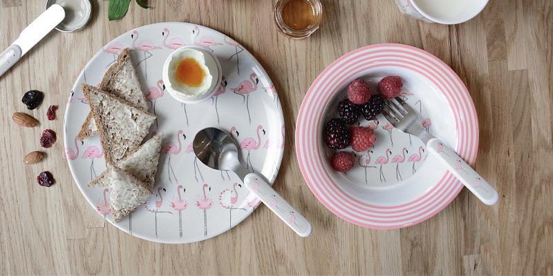 Kids bowls, kids plates, kids cups made from melamine with Sophie Allport designs
