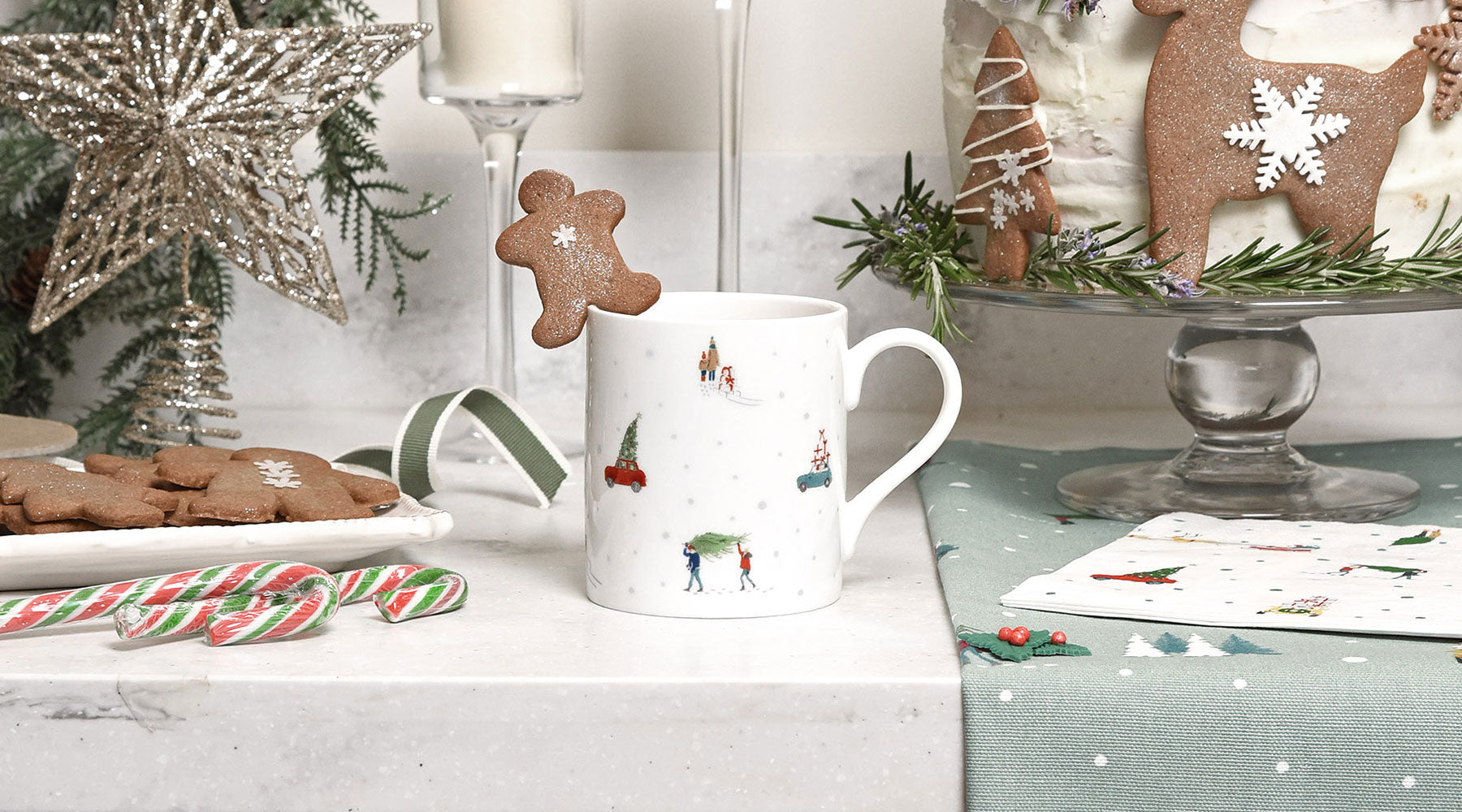 Christmas Mugs by Sophie Allport