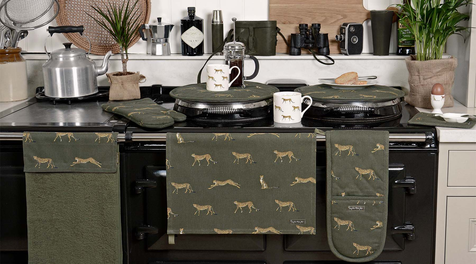 Cheetah print on homewares & accessories designed by Sophie Allport
