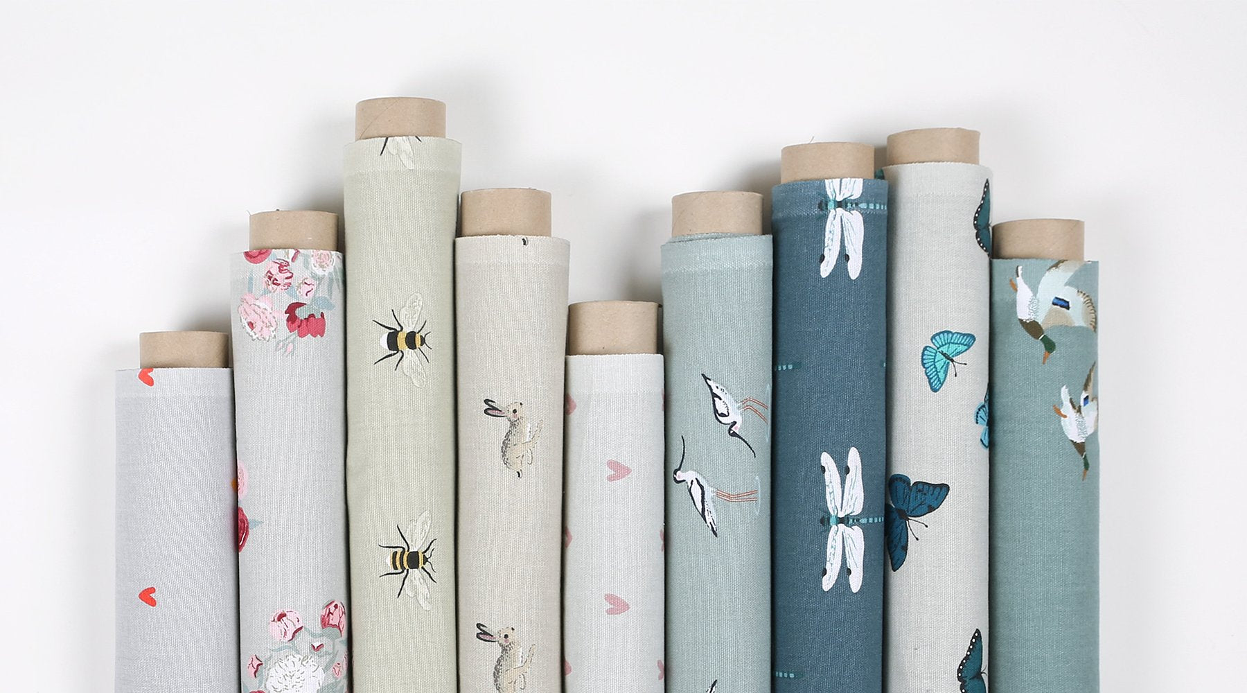 Buy fabric by the metre in country inspired designs from Sophie Allport