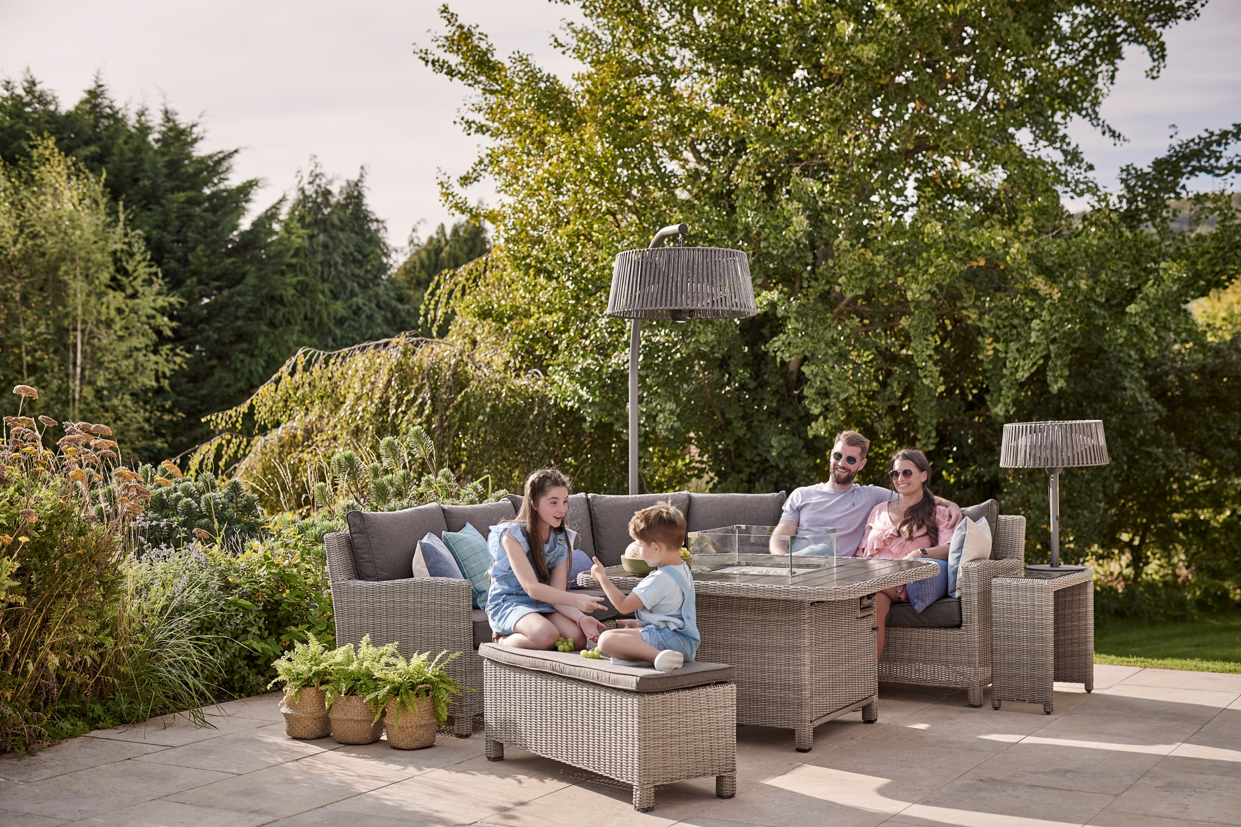 Win A Kettler Garden Set With Fire Pit Table Worth £2,399
