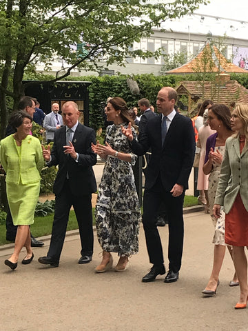 Duke & Duchess of Cambridge at CFS 2019 infront of Sophie Allport stand.