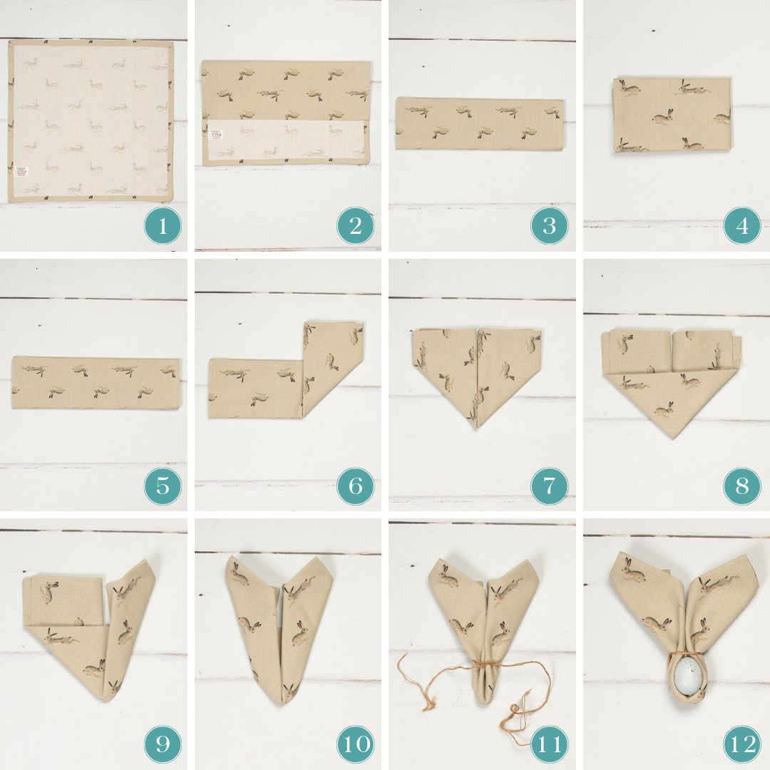 How to make bunny ear napkins