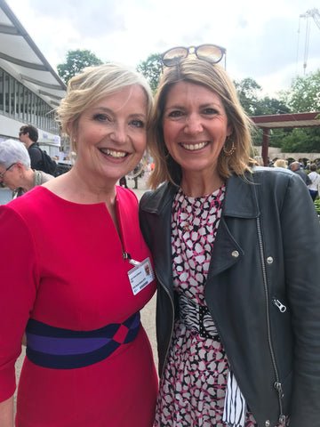 Sophie with the gorgous Carol Kirkwood at Chelsea 2019