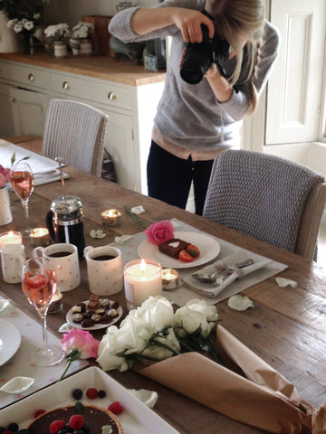 behind the scenes on the sophie allport valentine photoshoot