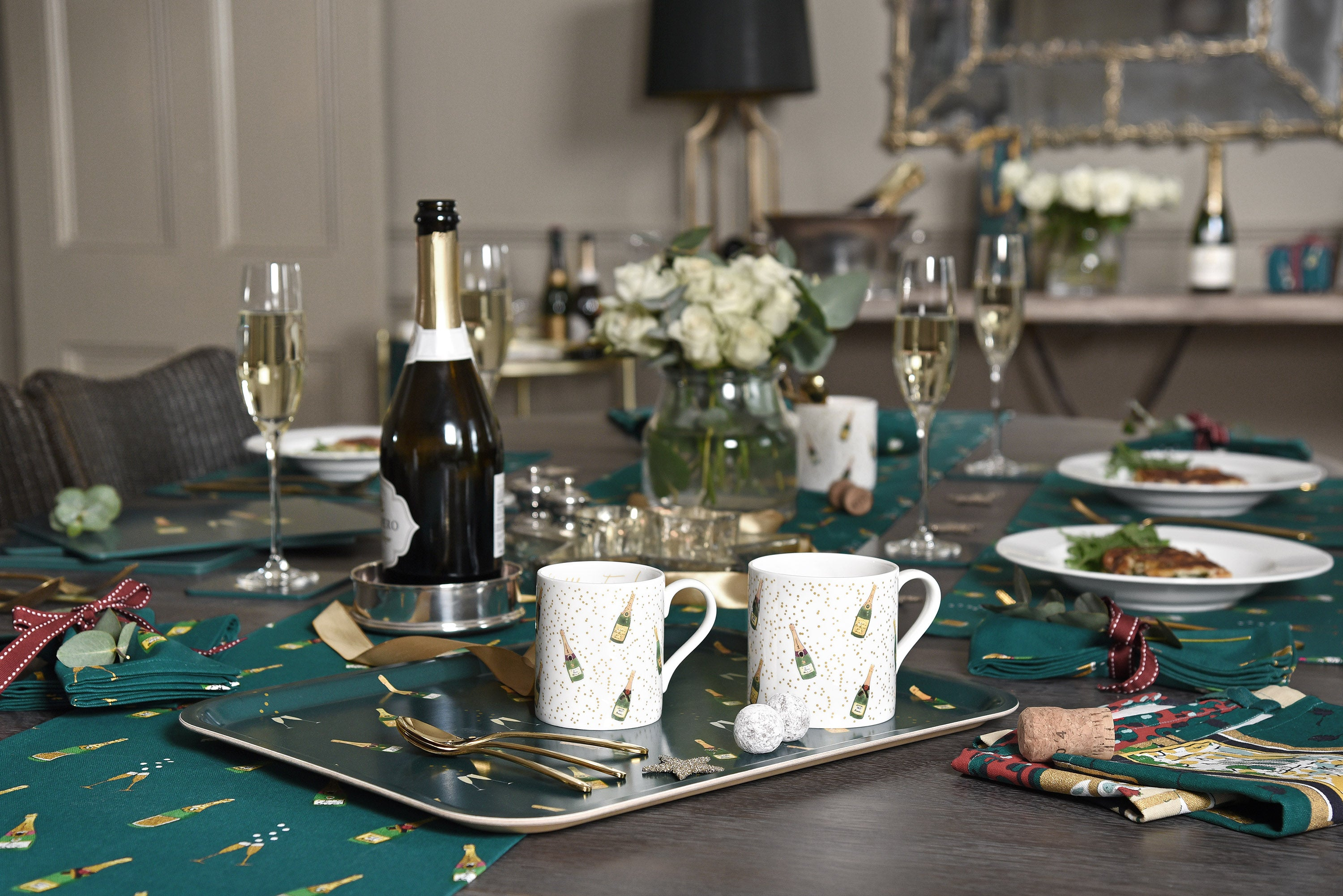 Bubbles & Fizz Table Setting by Sophie Allport