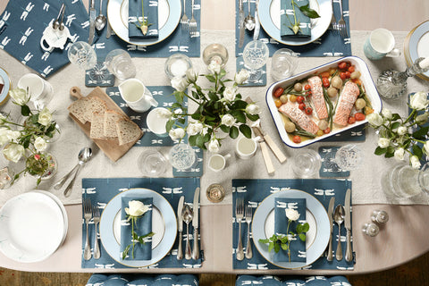 Dragonfly homewares table setting by Sophie Allport