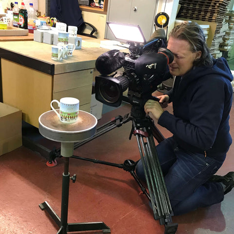 BBC filming the Prince Harry wedding mug