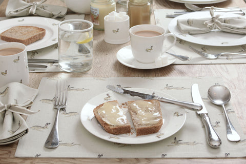 Breakfast week - toast on Sophie Allport hare plates