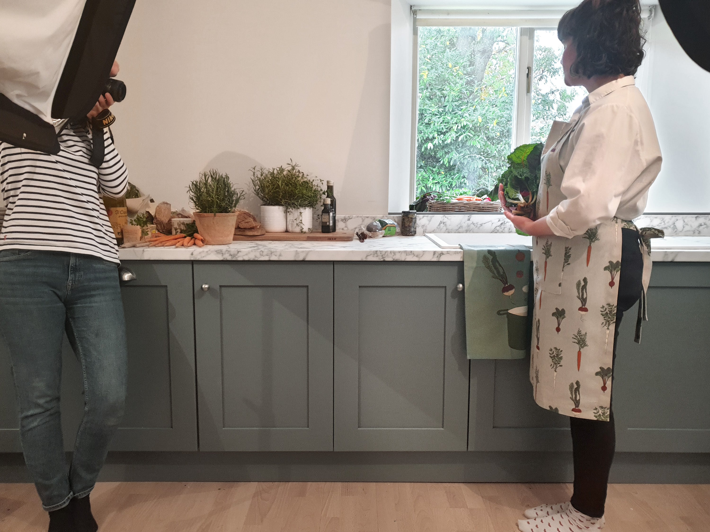Behind The Scenes Of Our Home Grown Photoshoot