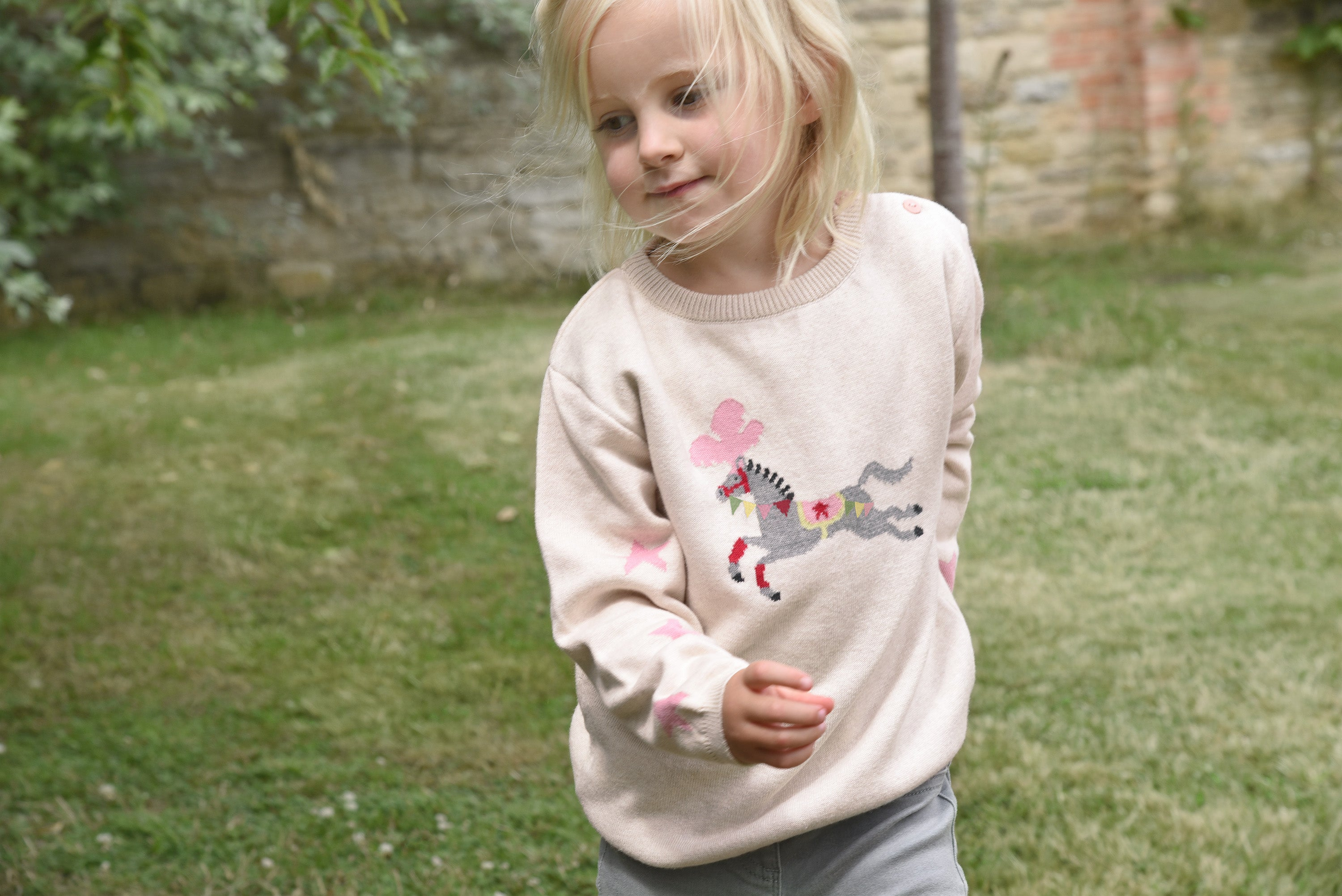 Fairground at home with Sophie Allport - Knitwear Jumper in a sweet pink colour