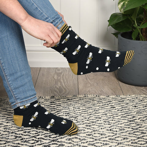 Bees Ladies Socks by Sophie Allport