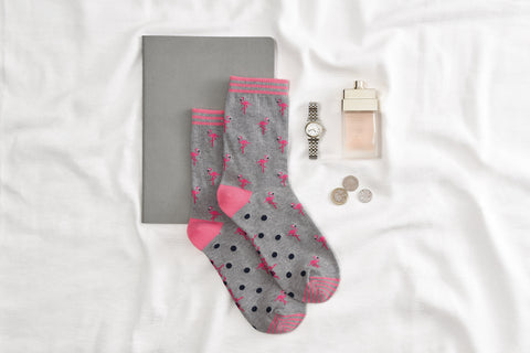 Flamingos Women's Socks by Sophie Allport
