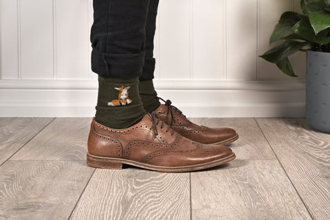 Foxes Men's socks by Sophie Allport