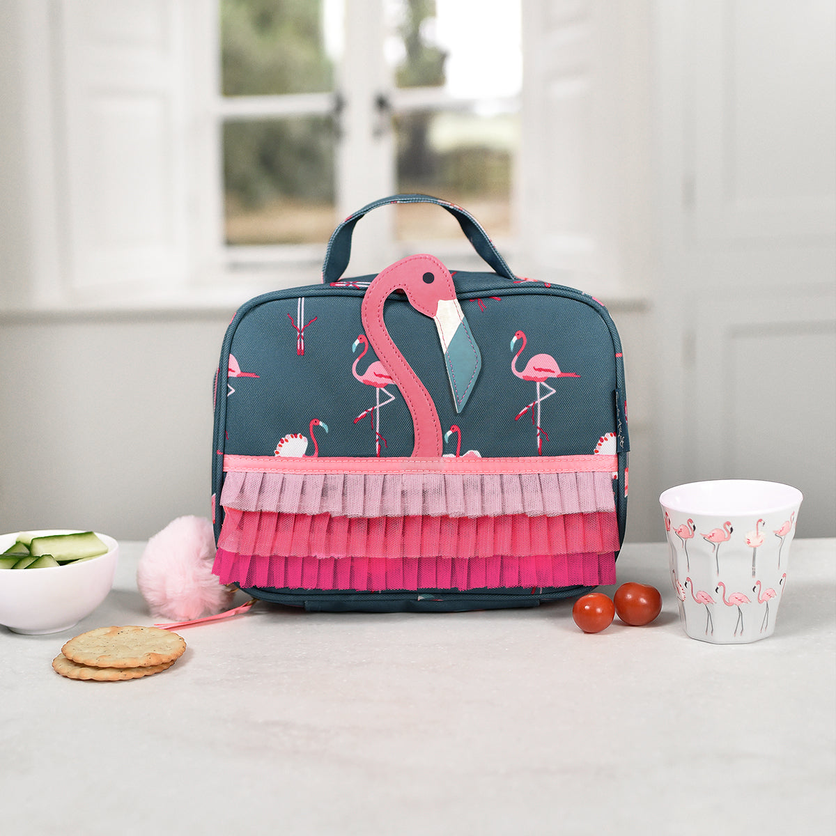 Flamingos lunch bag by Sophie Allport