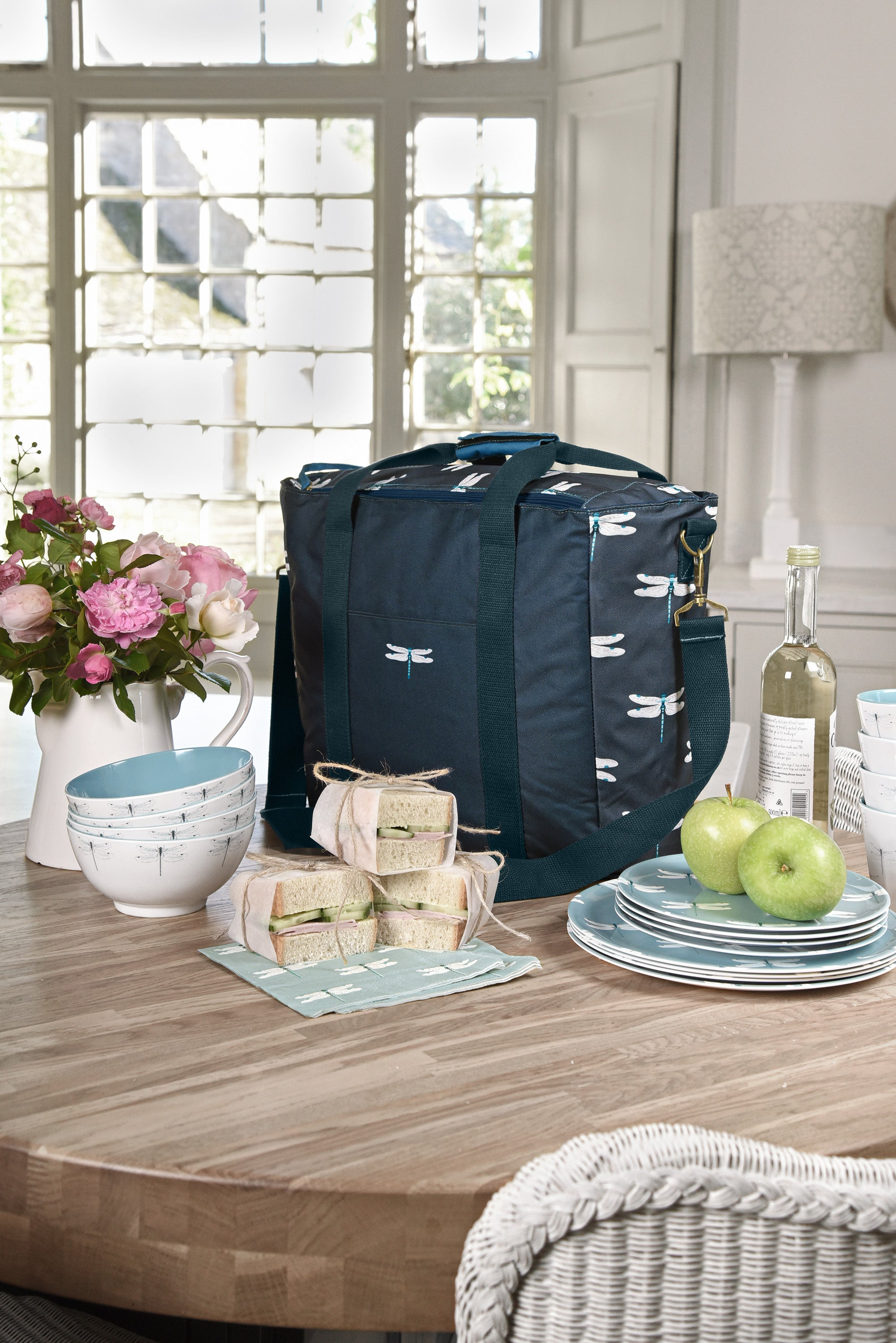 Dragonfly picnic bag by Sophie Allport